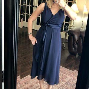 EVAN PICONE navy blue empire waist party dress